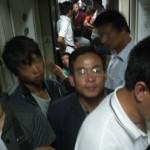 Interior del tren Beijing-Datong en China