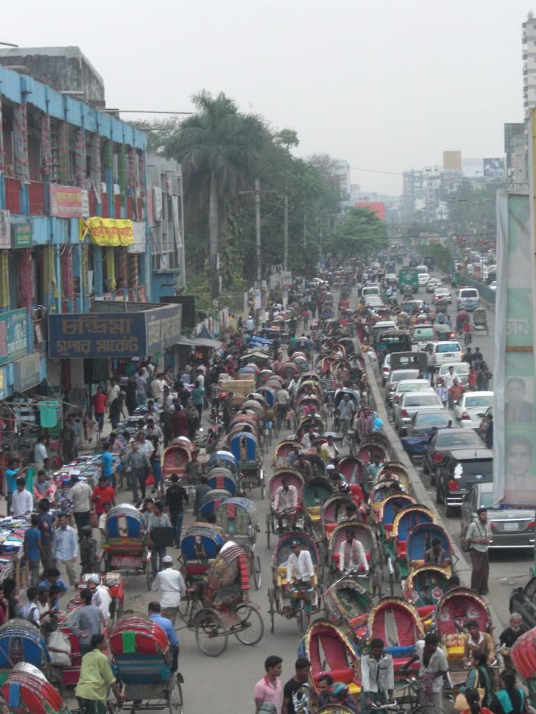 Rickshaw's traffic in Dhaka