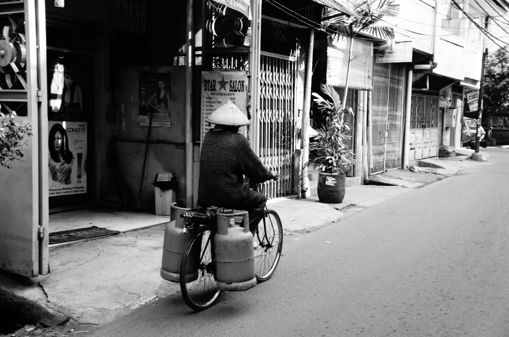 Imagenes cotidianas del barrio de Glodok