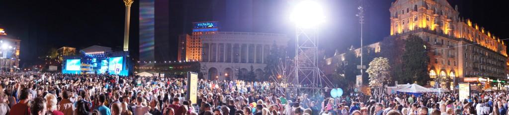 Celebración del día de la independencia en Kiev, el 24 agosto 2013