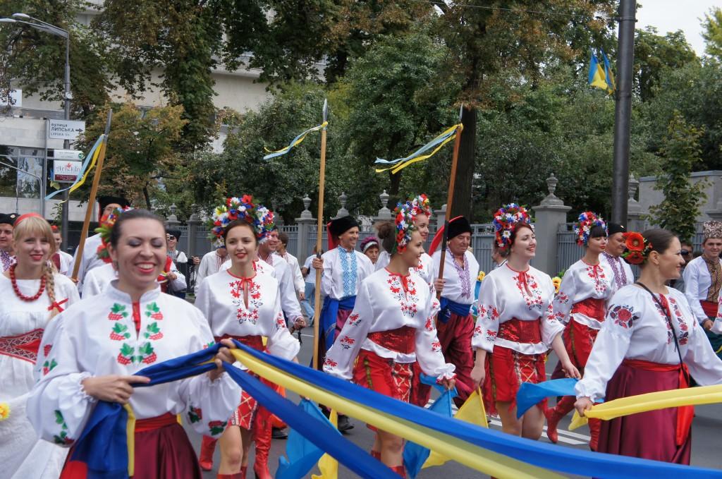 Celebración del día de la independencia en Kiev, Ucranía