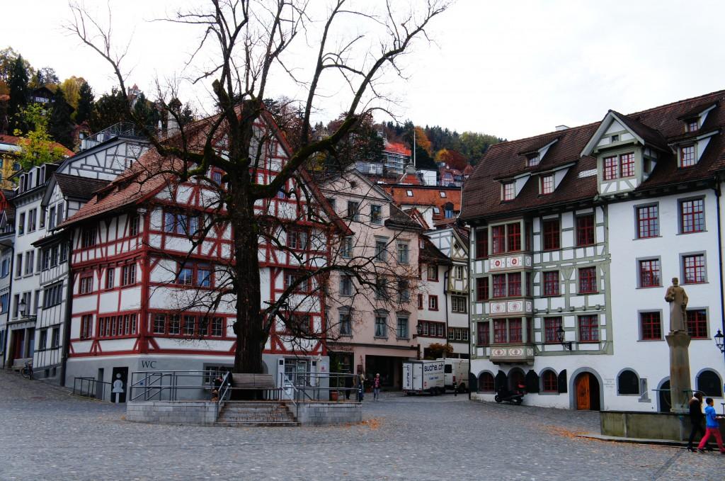 Pueblito en la parte alemana de Suiza