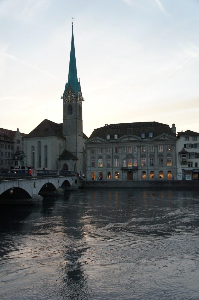 Zurich al atardecer