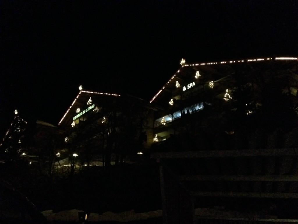 Vistas de cerca de los pueblos de noche. De lejos, no tienen precio :-)