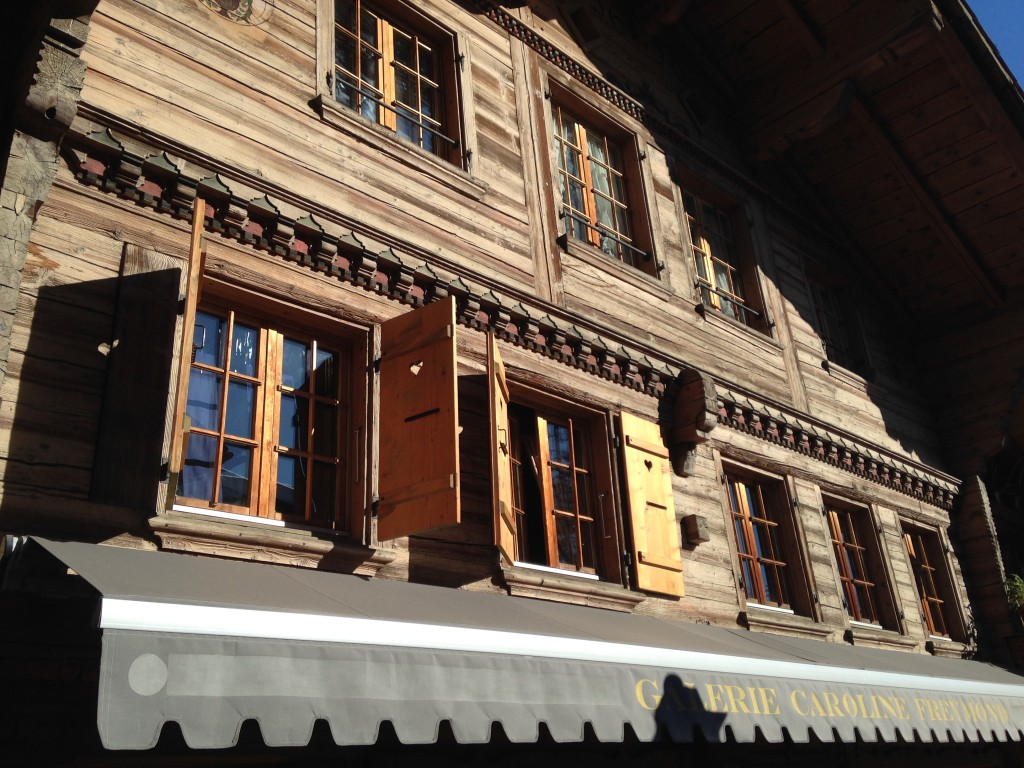 Chalets típicos en Gstaad