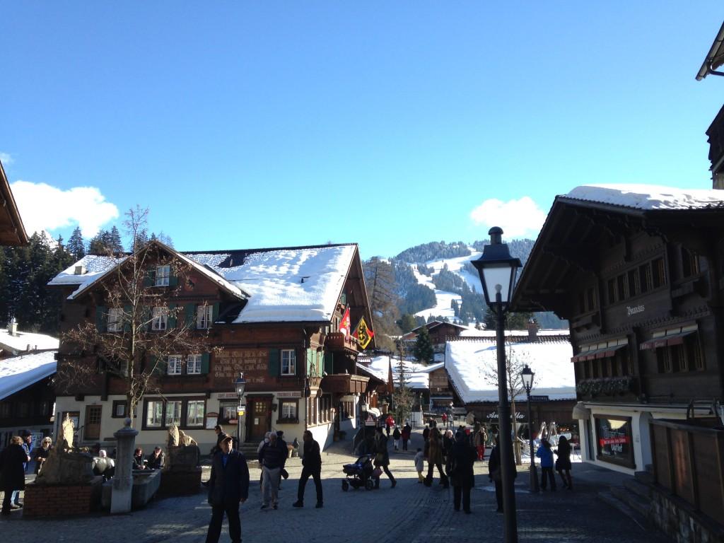 El centro comercial de Gstaad