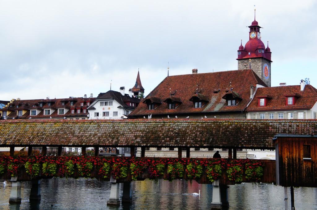 El famoso y antiquísimo puente de madera