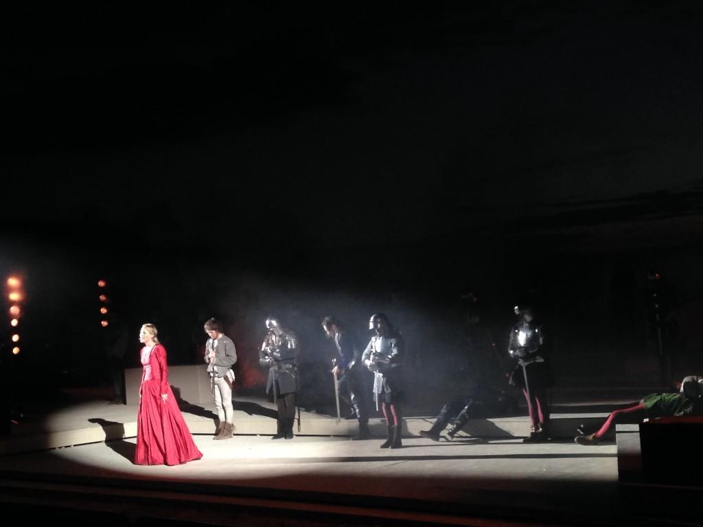 Uno de los mejores momentos de la representación teatral
