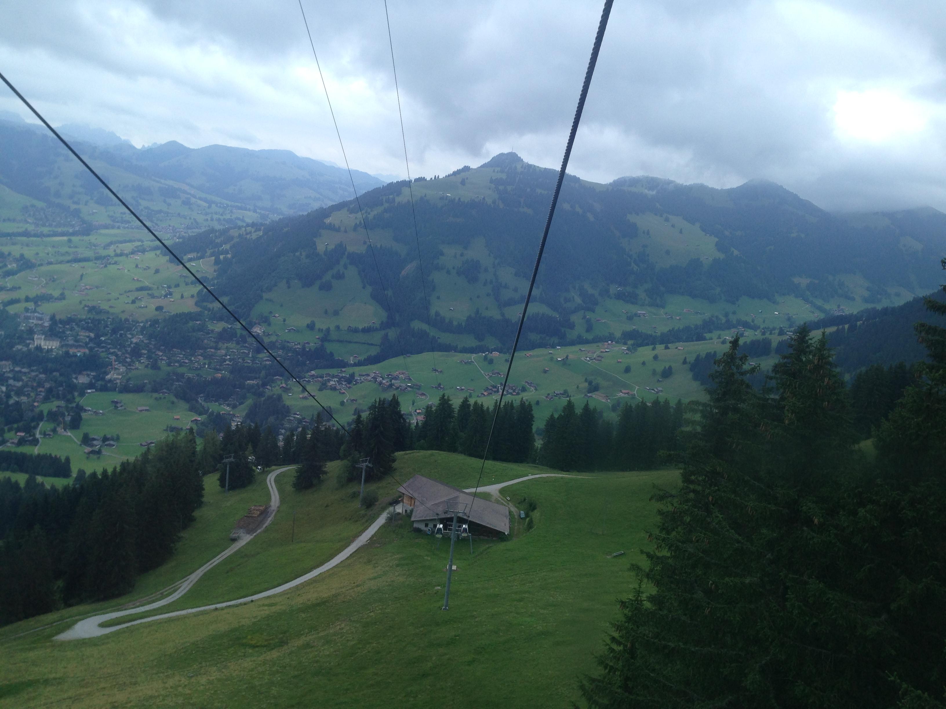 Subiendo con el Teleski de Gstaad a 2.000 metros de Altura