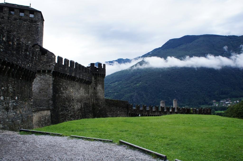 Castillo y fortificación patrimonio de la Unesco, en Bellinzona