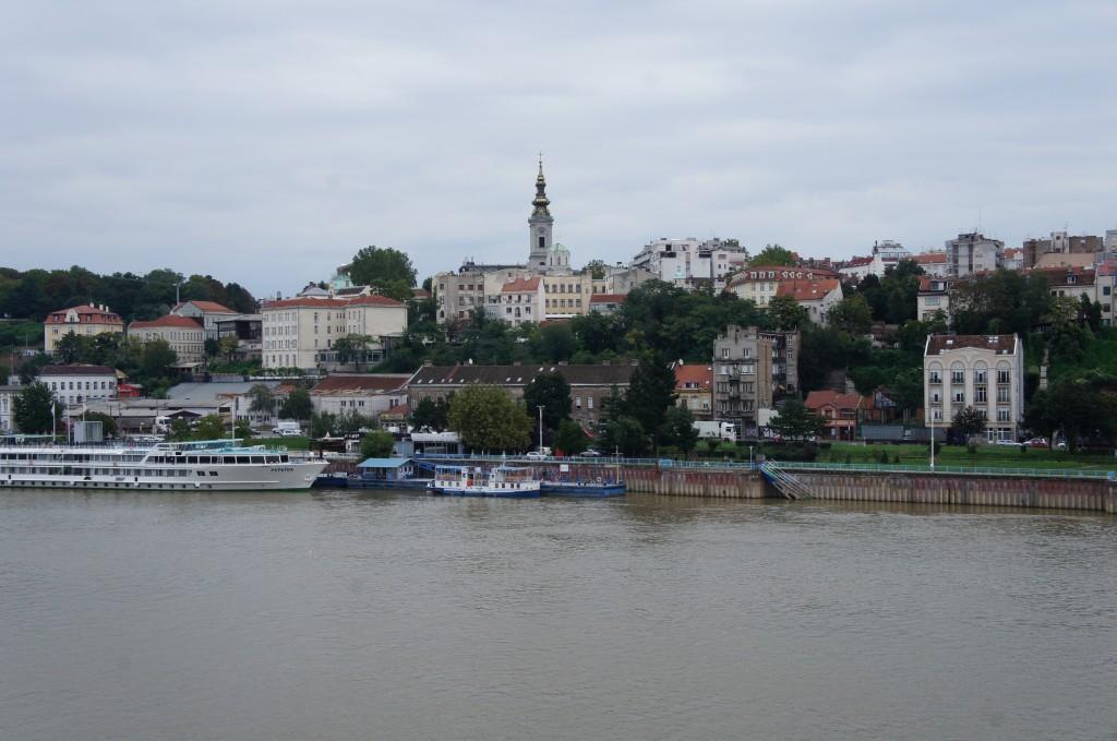 Vista del fuerte y casco viejo de Belgrado