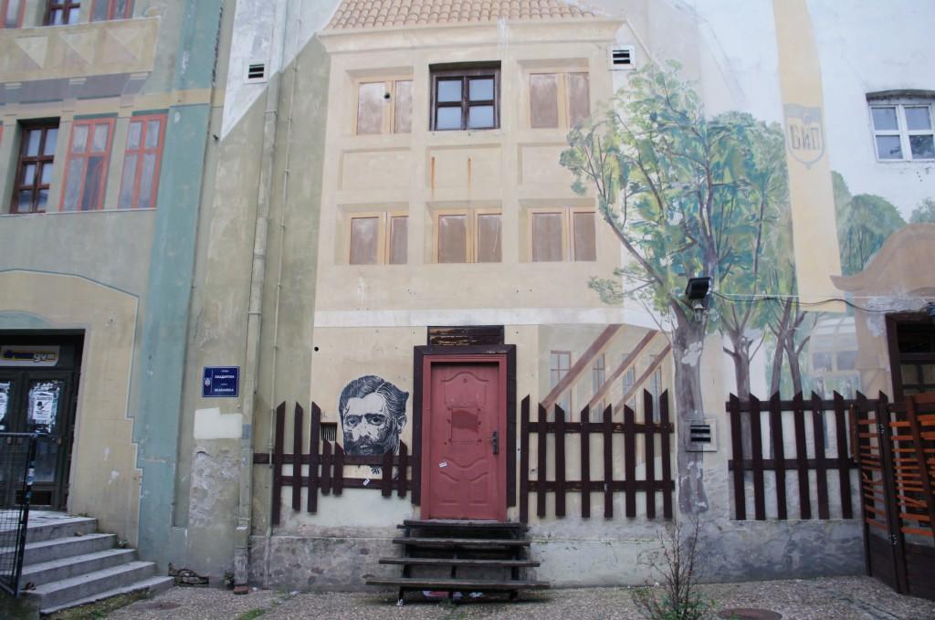 Otro ejemplo de arte callejero. Este, en Belgrado