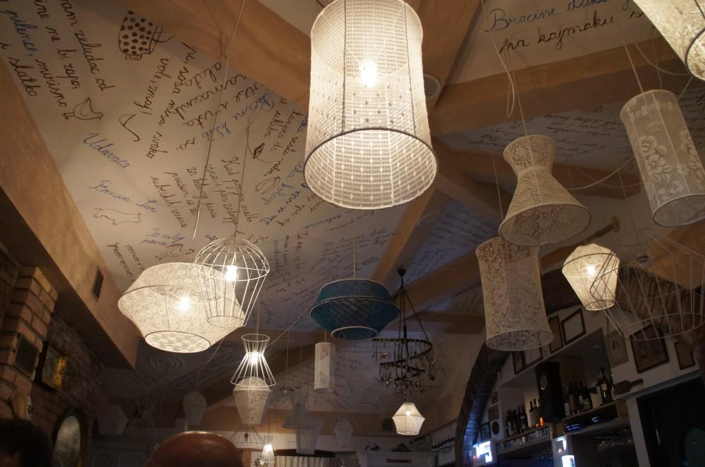 Detalles de un restaurante en Novi Sad