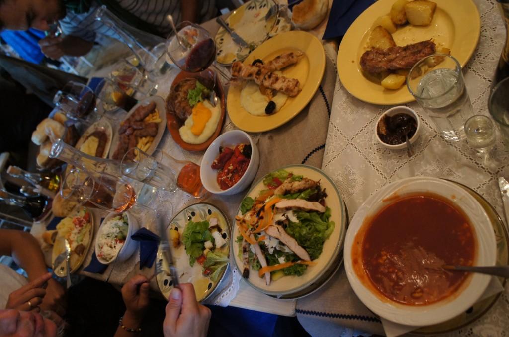 Una comida tradicional un sabado cualquiera...