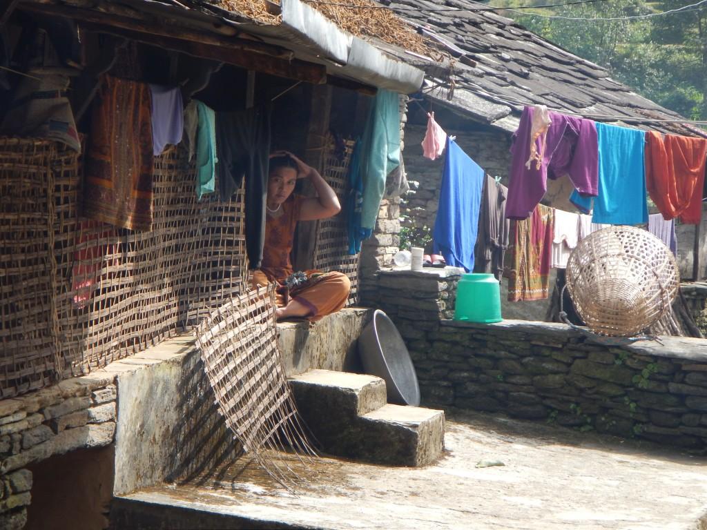 Una de las aldeas por las que pasamos el último día, donde nos invitaron a tomar un té y lassi