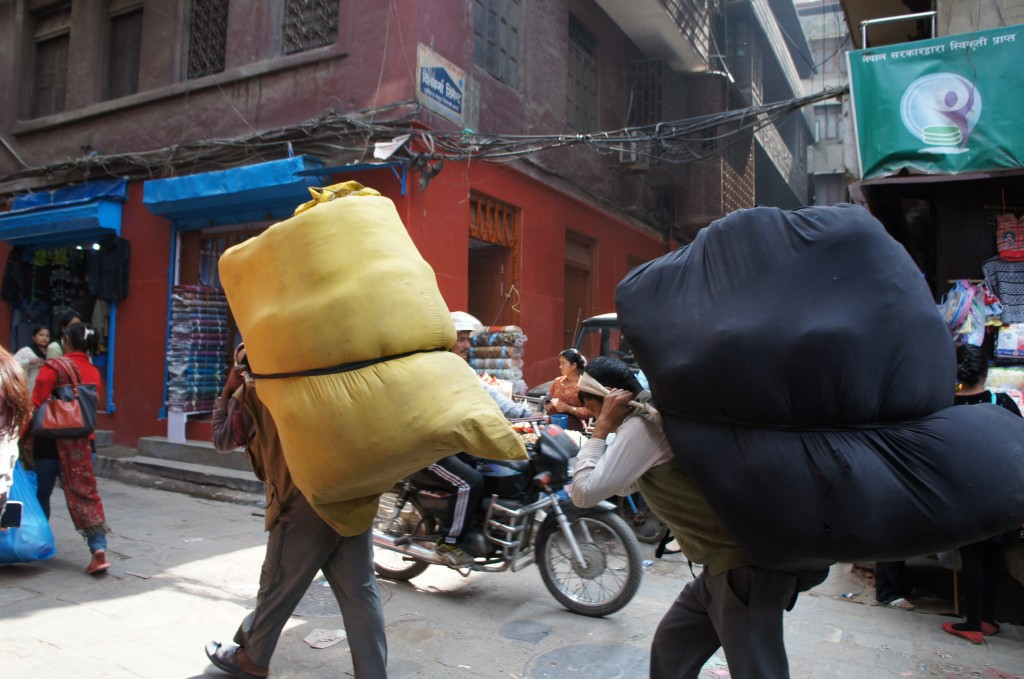 Porters, a job alternative for lot of Nepali men