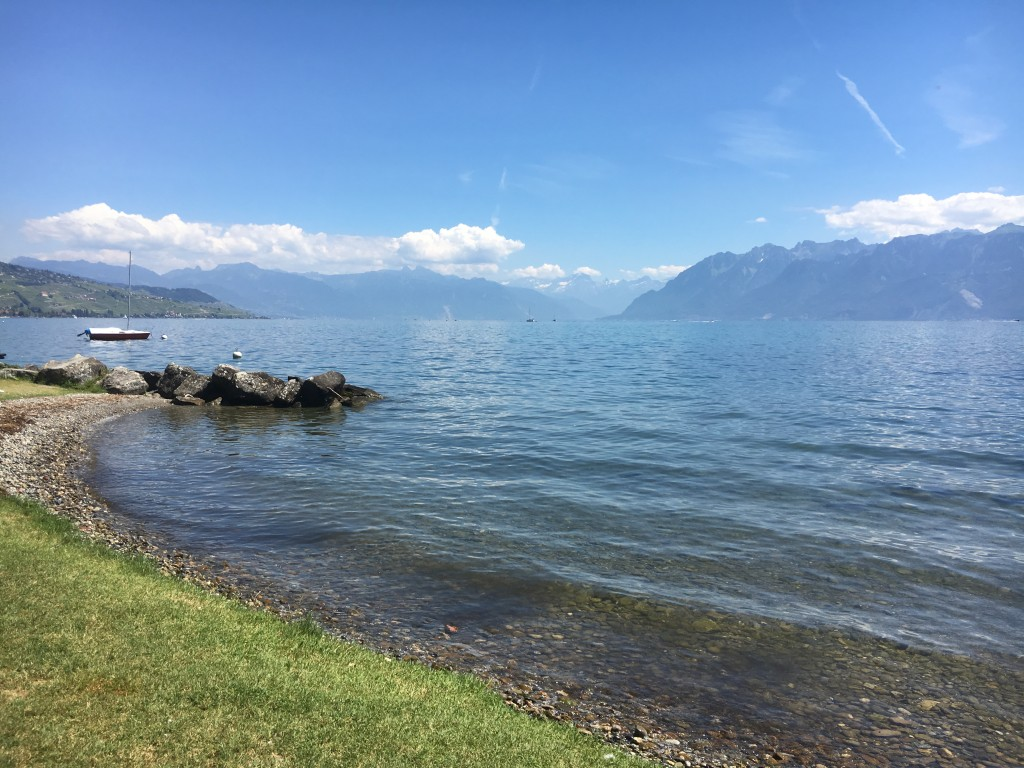 Small beaches in between Lausanne and Lavaux