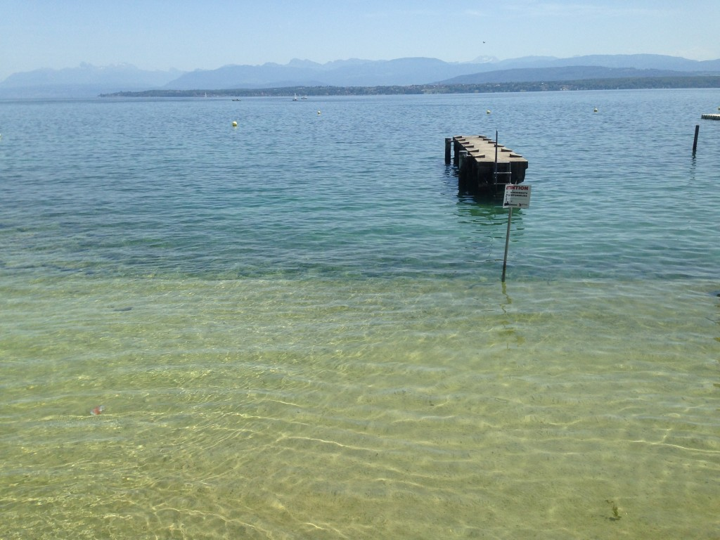 Nyon town main beach