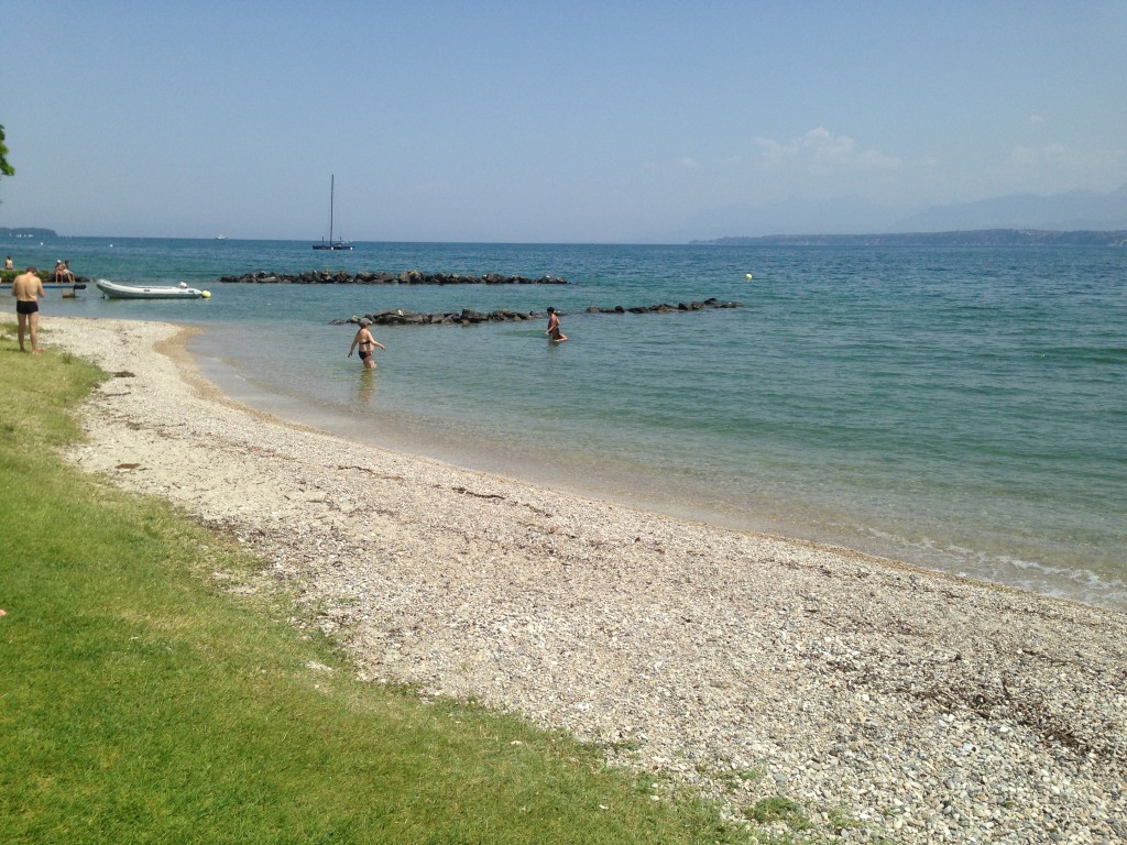 Nyon beach in the sport center